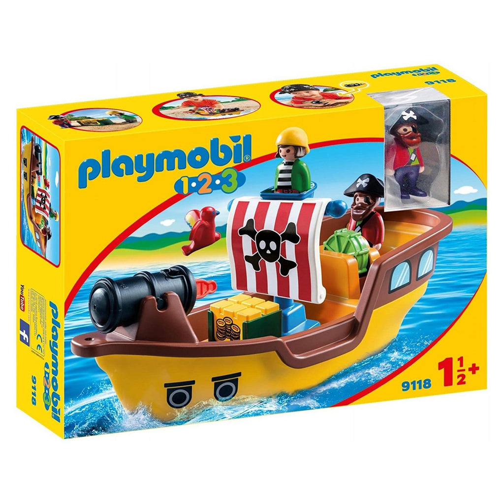 Playmobil 123 Pirate Ship Building Set