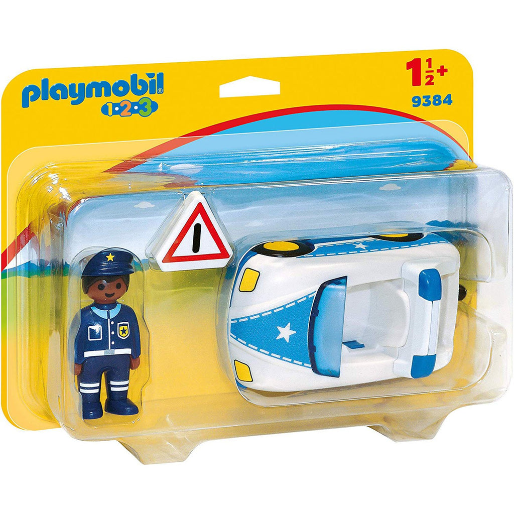 Playmobil - Playmobil 123 Police Car Building Set 9384