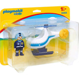 Playmobil - Playmobil 123 Police Helicopter Building Set 9383