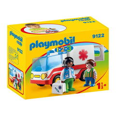 Playmobil - Playmobil 123 Rescue Ambulance Building Set 9122