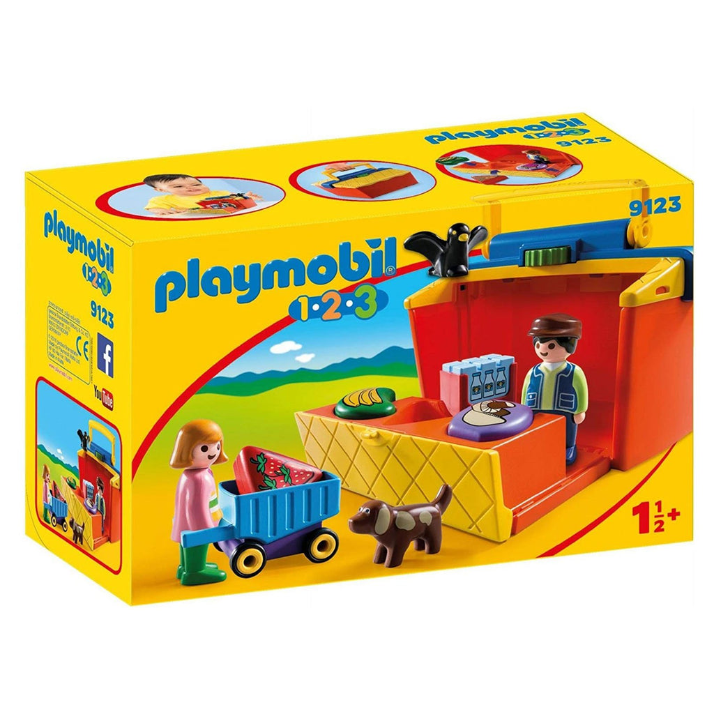 Playmobil 123 Take Along Market Stall Building Set 9123