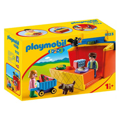 Playmobil - Playmobil 123 Take Along Market Stall Building Set 9123