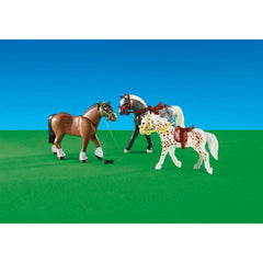 Playmobil - Playmobil 3 Racing Horses Building Set 6360