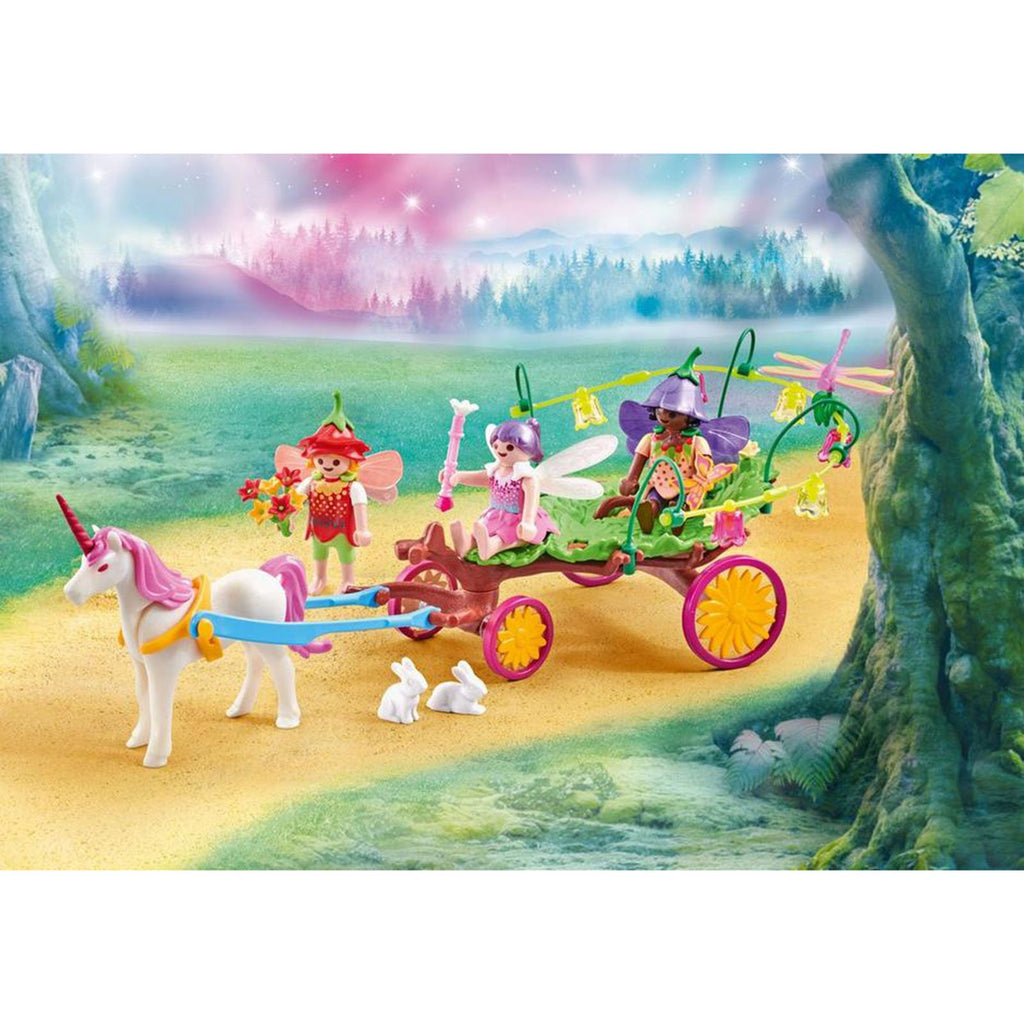 Playmobil Children Fairies With Unicorn Carriage Building Set 9823