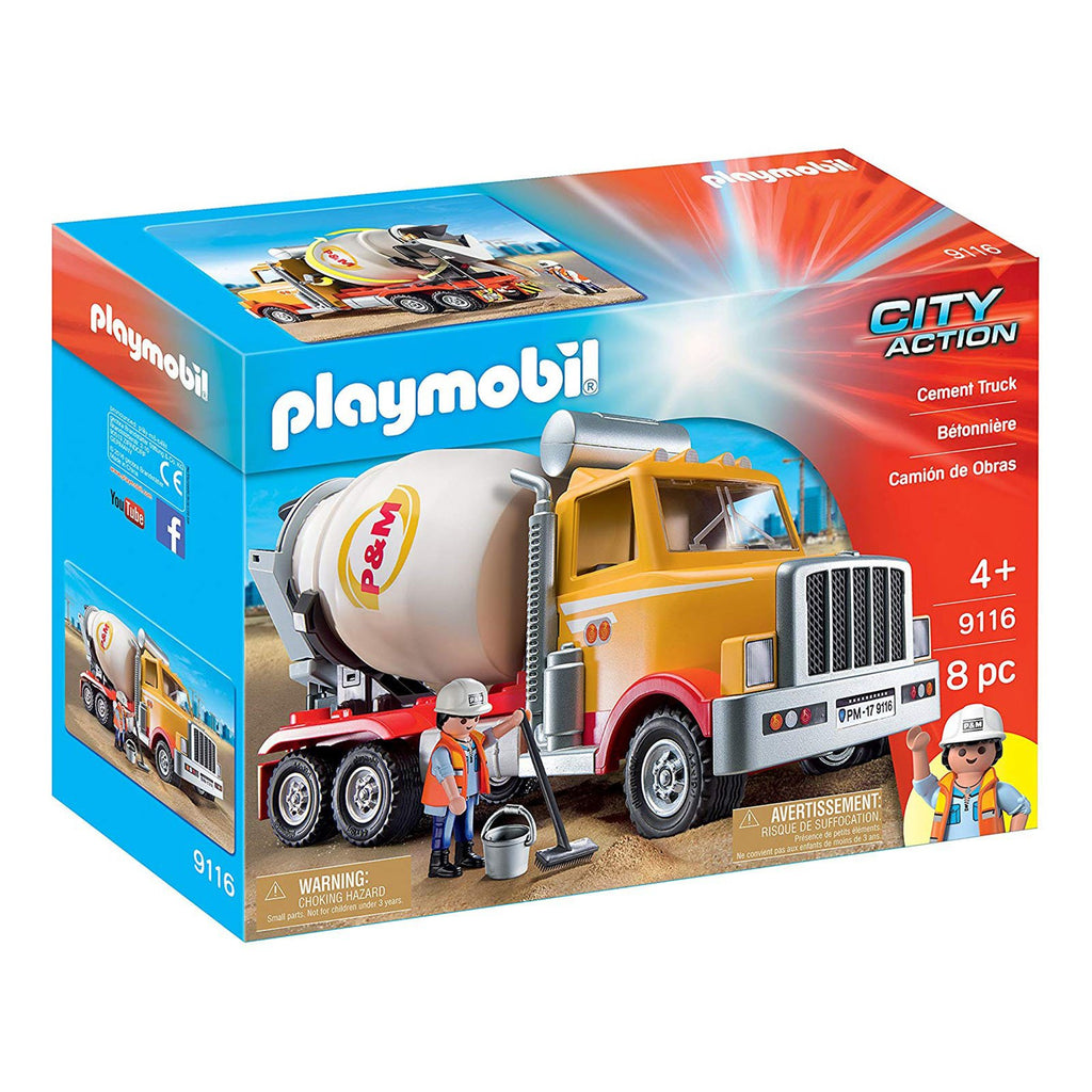 Playmobil City Action Cement Truck Building Set 9116