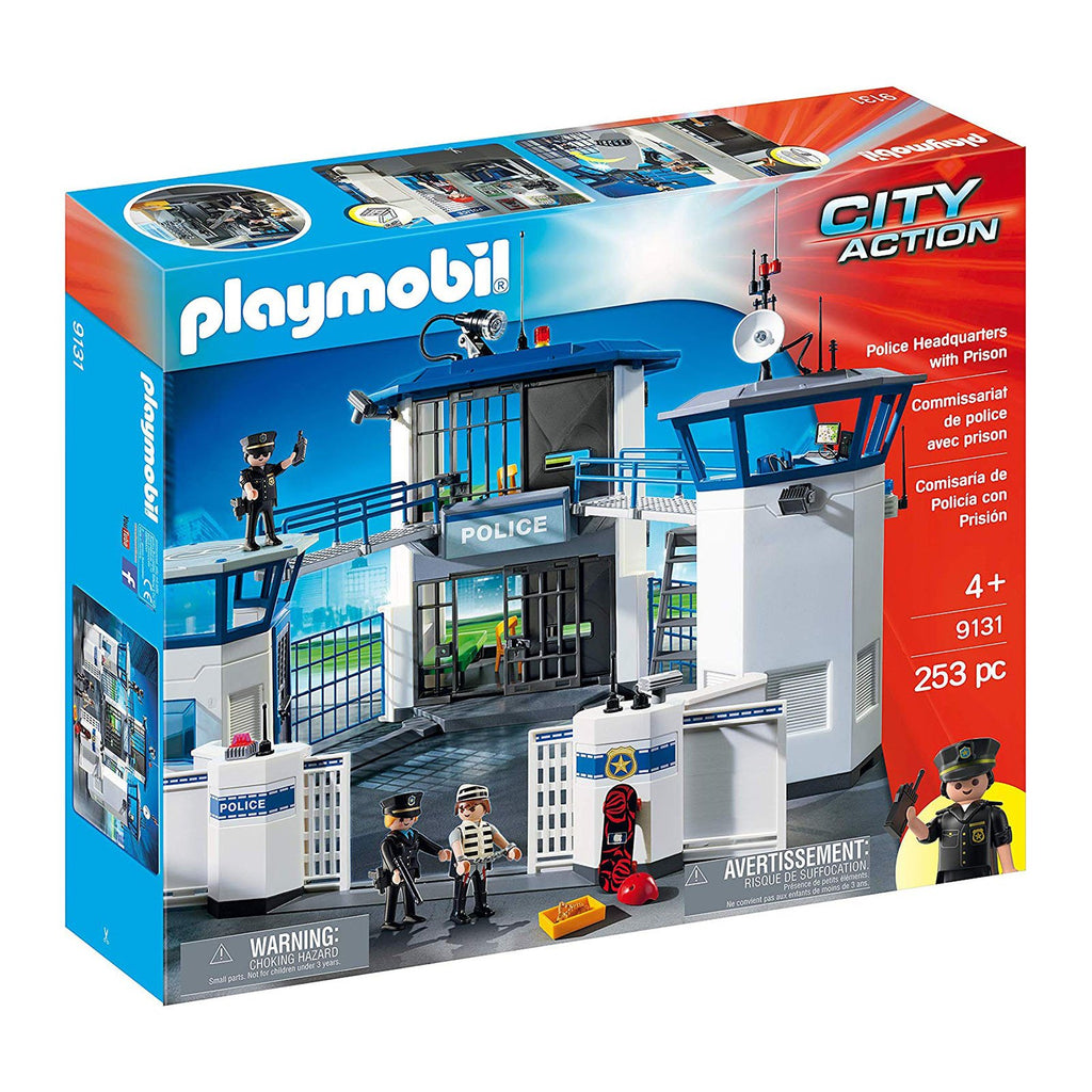 Playmobil City Action Police Headquarters With Prison Building Set 9131