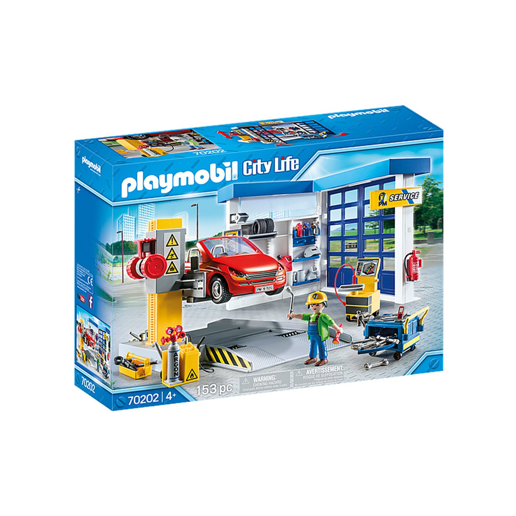 Playmobil City Life Car Repair Garage Building Set 70202