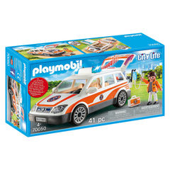 Playmobil - Playmobil City Life Emergency Car With Siren Building Set 70050