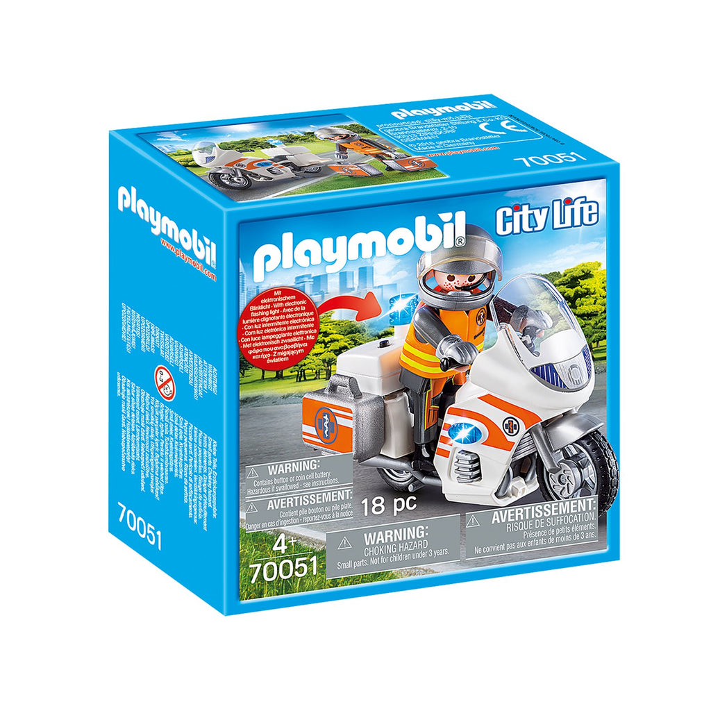 Playmobil City Life Emergency Motorbike Building Set 70051