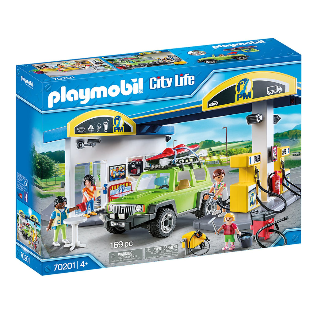 Playmobil City Life Gas Station Building Set 70201