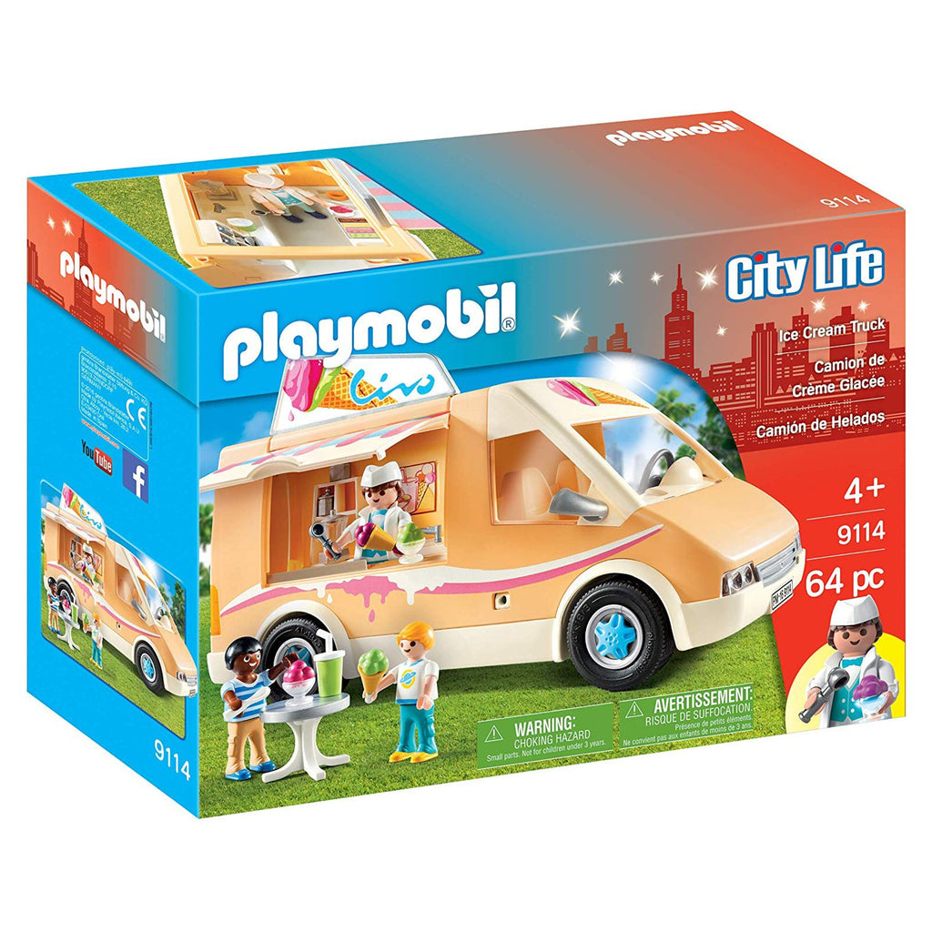 Playmobil City Life Ice Cream Truck Building Set 9114