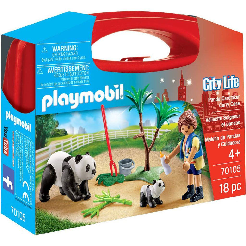 Playmobil - Playmobil City Life Panda Caretaker Carry Case Building Set 70105