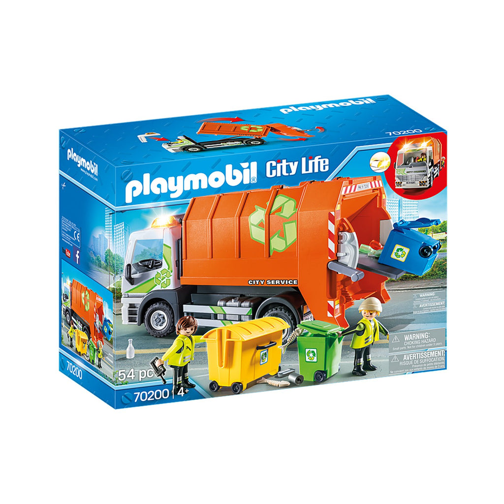 Playmobil City Life Recycling Truck Building Set 70200