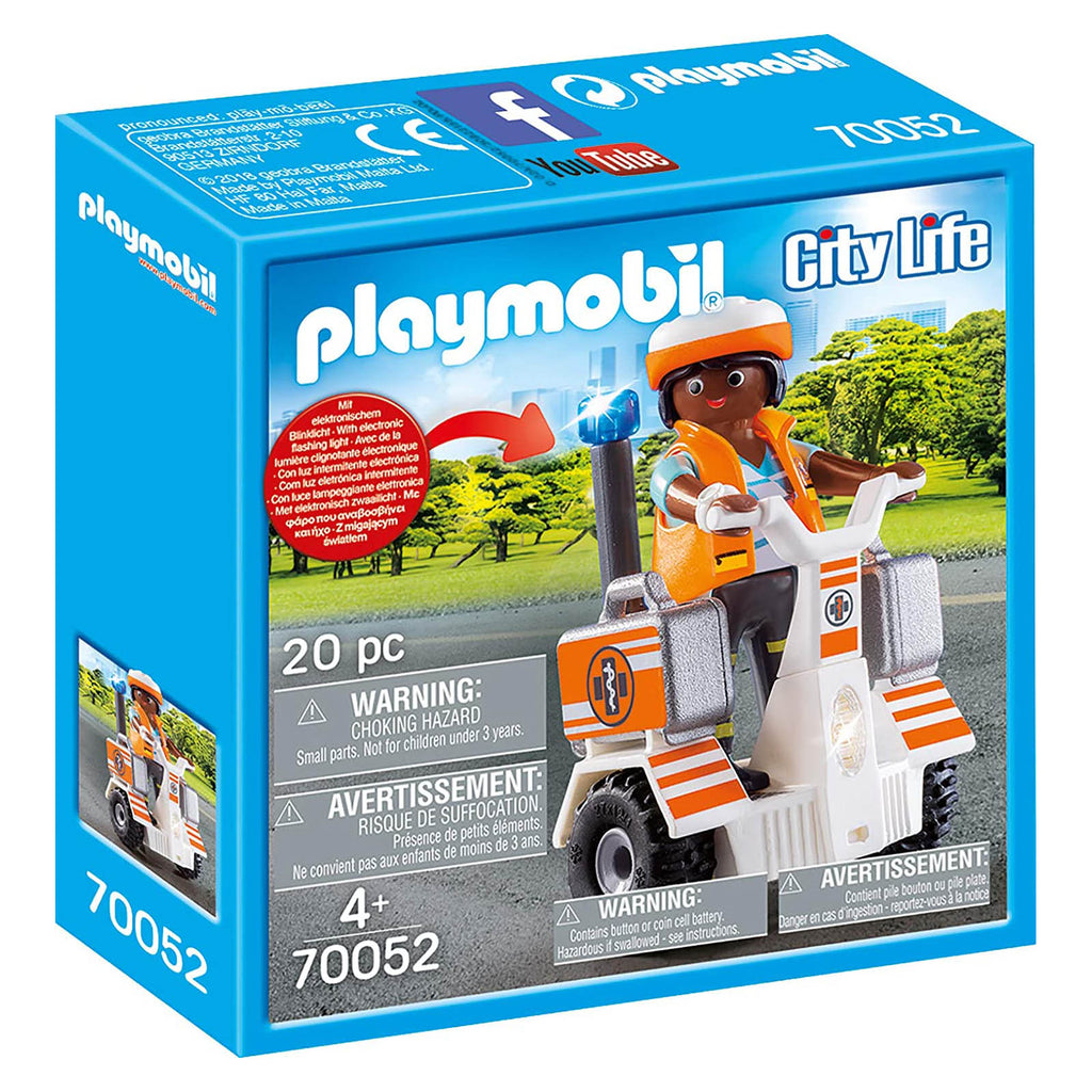 Playmobil City Life Rescue Balance Racer Building Set 70052