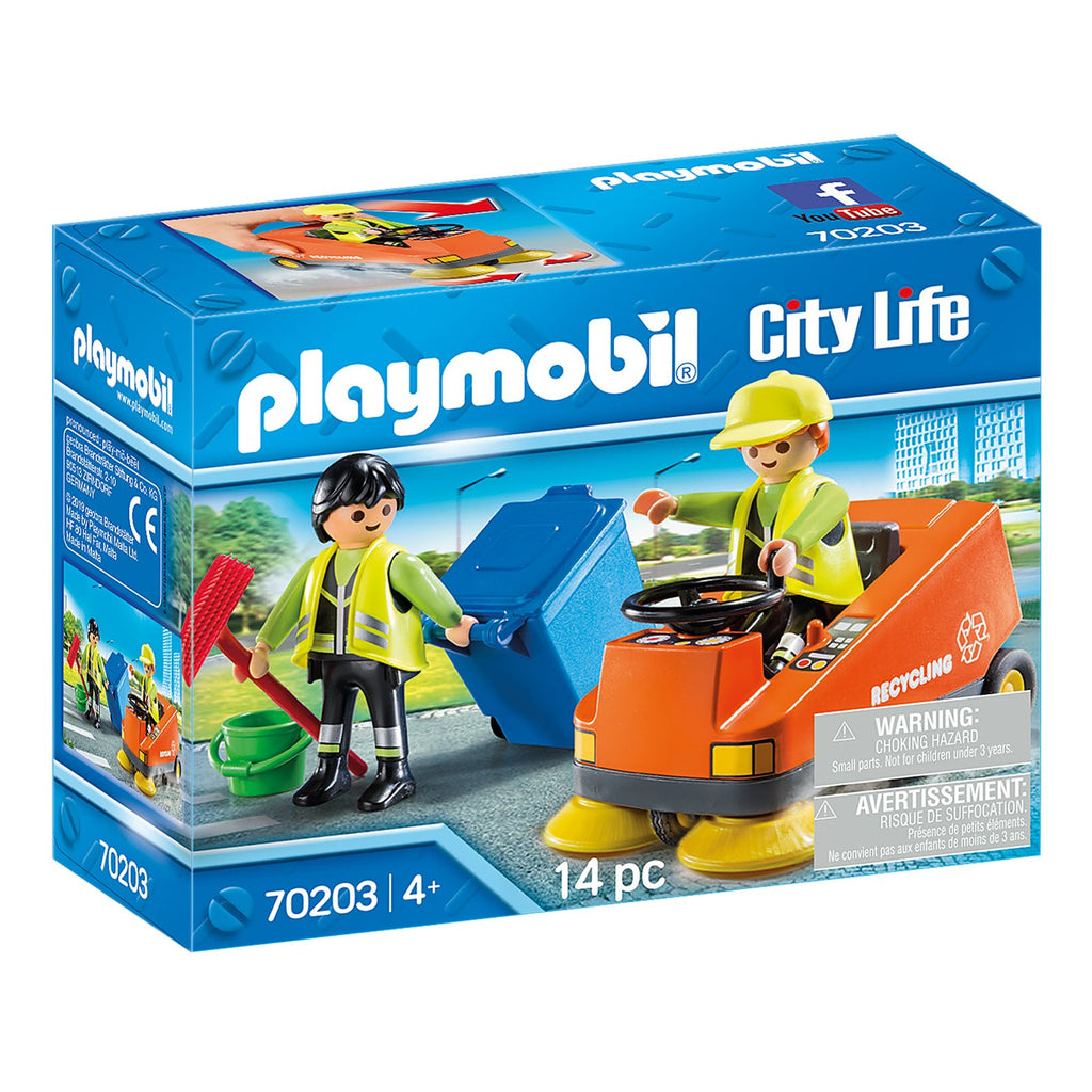 Playmobil City Life Street Sweeper Building Set 70203