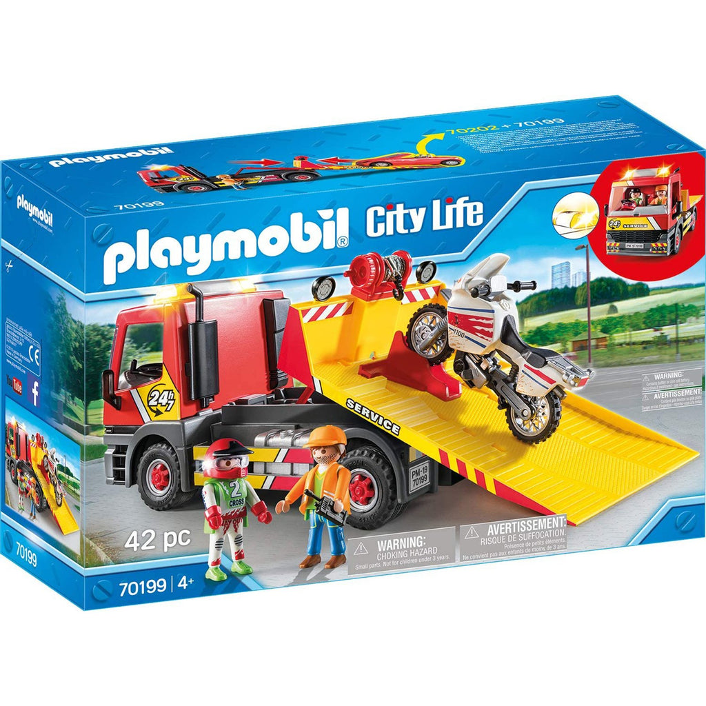 Playmobil - Playmobil City Life Towing Service Building Set 70199