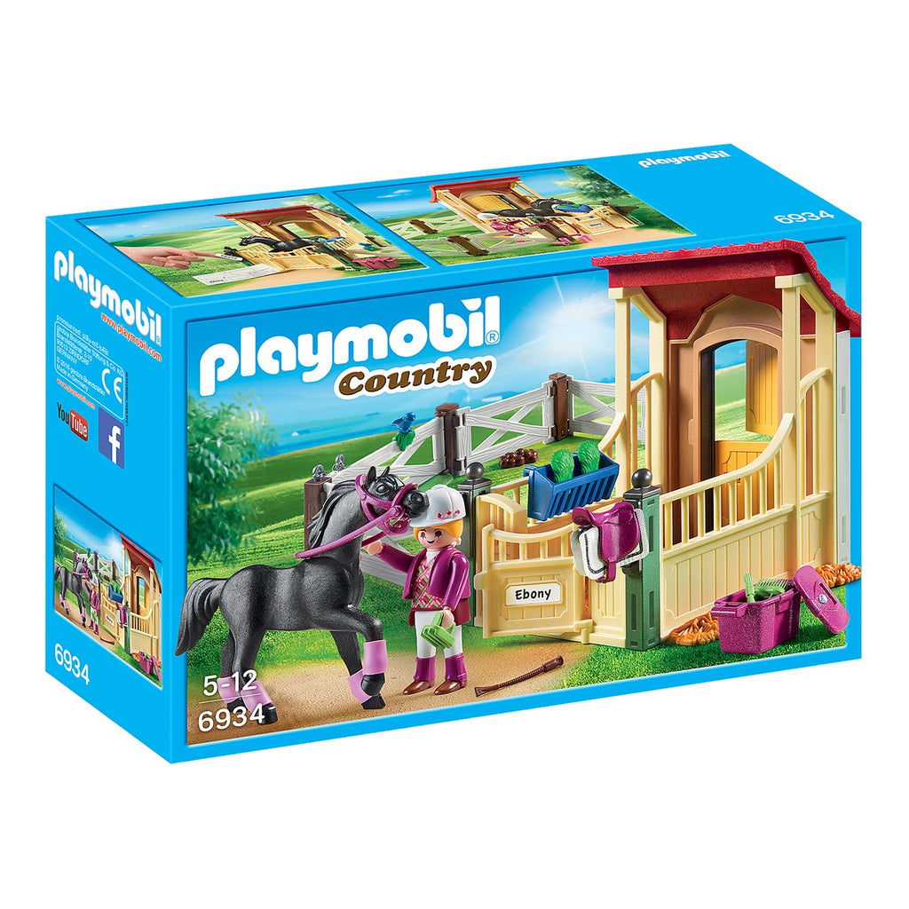 Playmobil Country Horse Stable With Araber Building Set 6934
