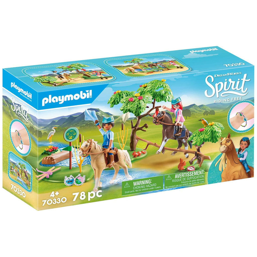 Playmobil DreamWorks Spirit River Challenge Building Set 70330