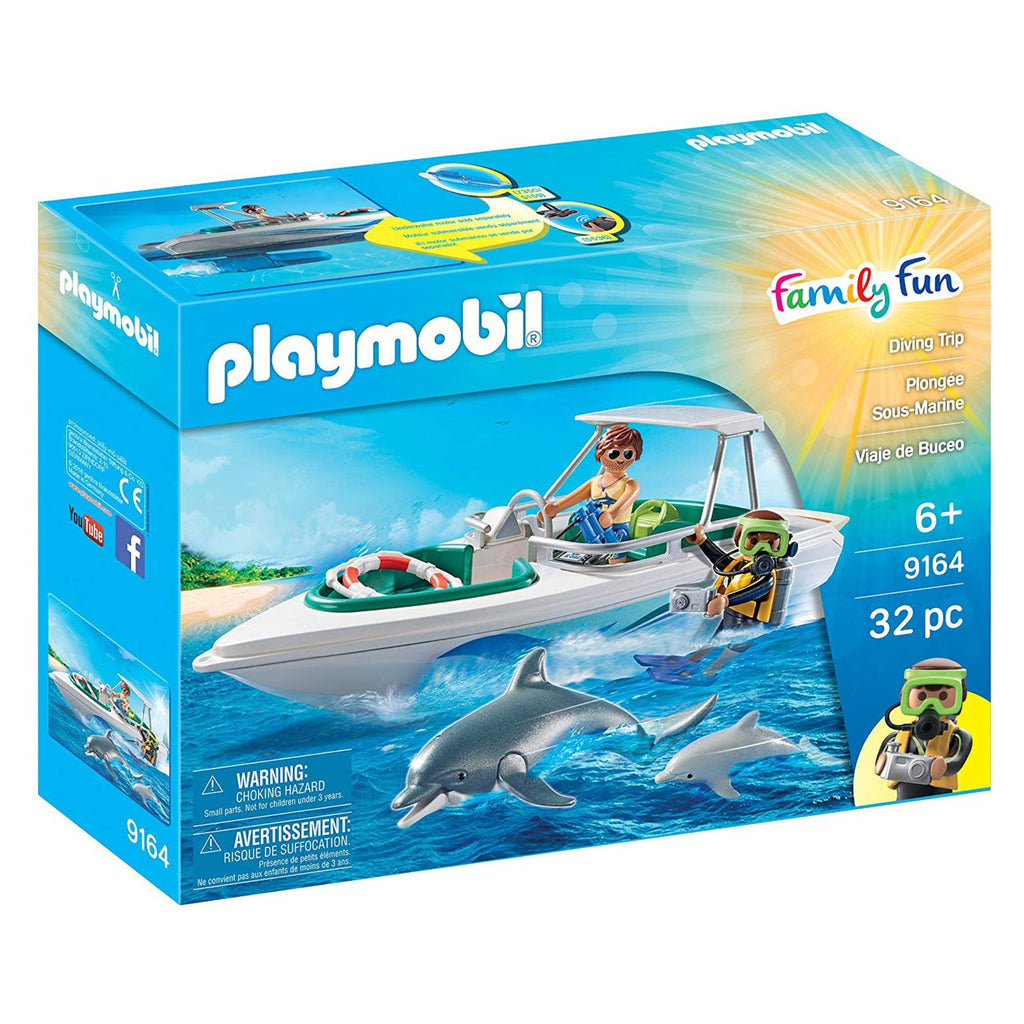 Playmobil Family Fun Diving Trip Building Set 9164
