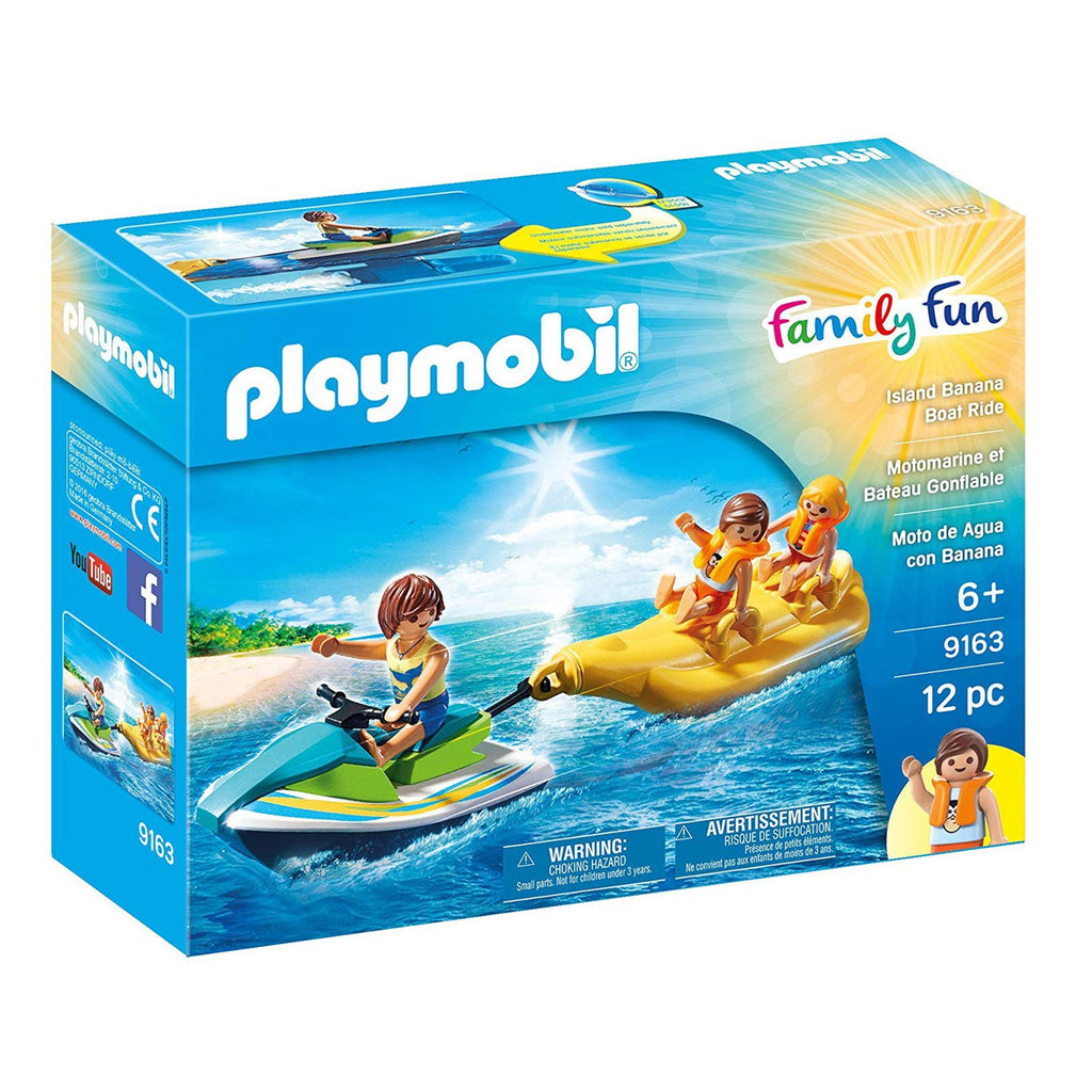Playmobil Family Fun Island Banana Boat Ride Building Set 9163