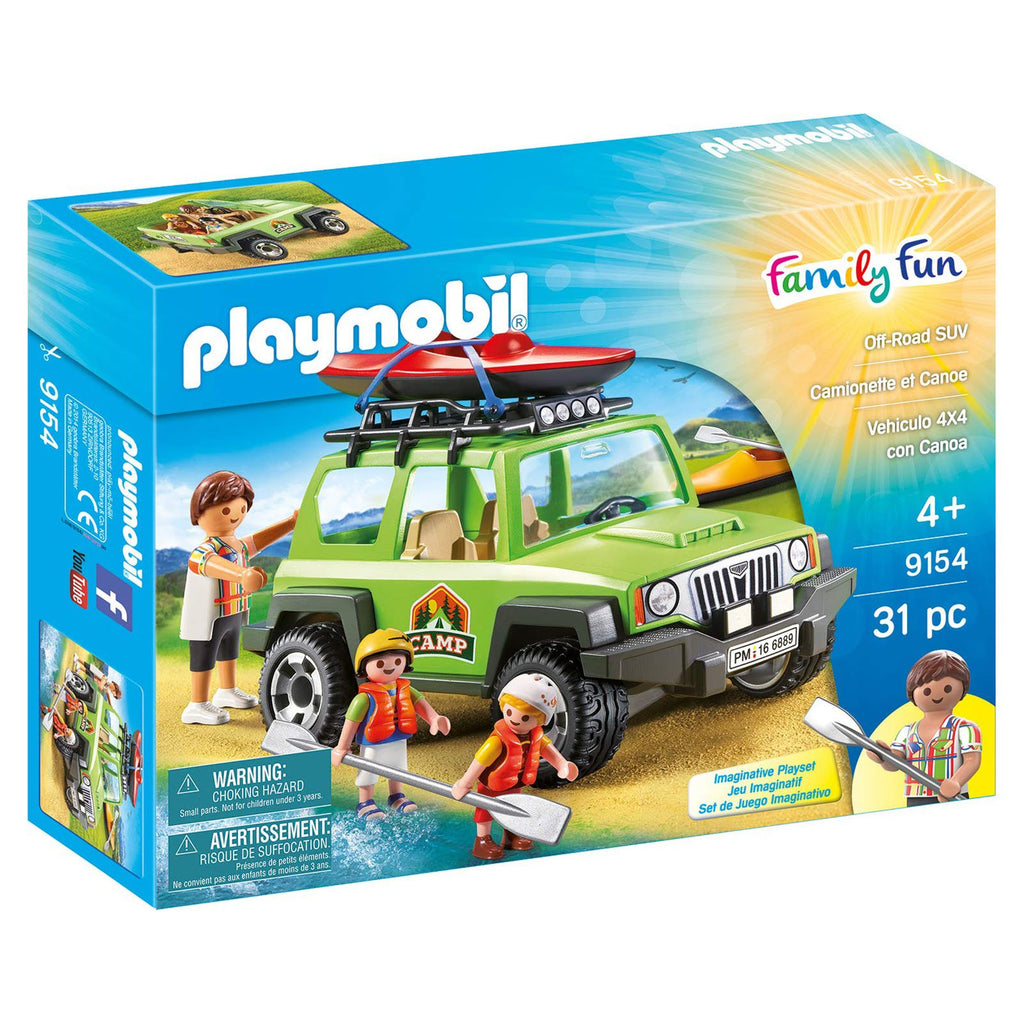 Playmobil Family Fun Off Road SUV Building Set 9154