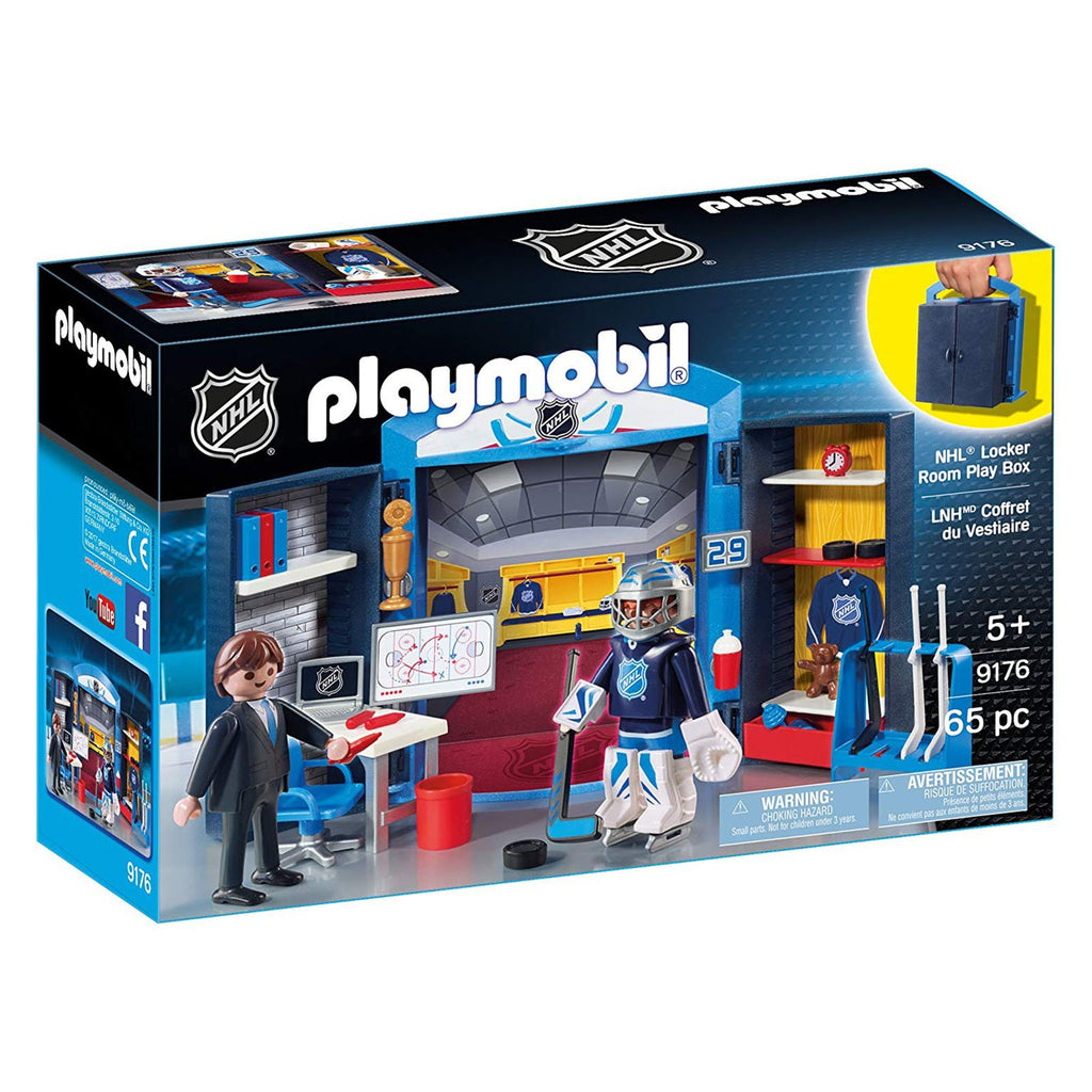 Playmobil NHL Locker Room Play Box Building Set 9176