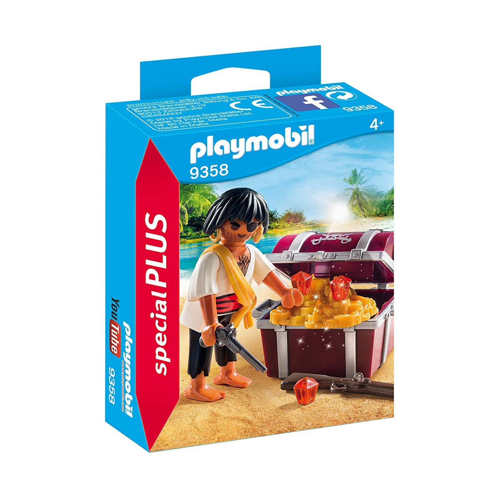 Playmobil Pirate With Treasure Chest Building Set 9358