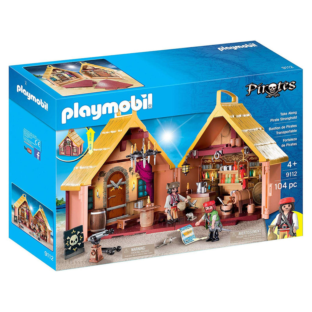 Playmobil Pirates Take Along Pirate Stronghold Building Set 9112
