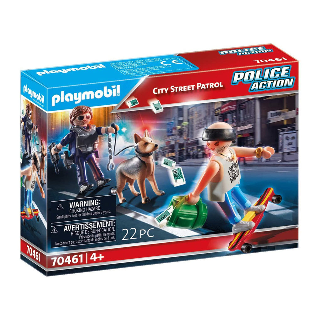Playmobil Police Action City Street Patrol Building Set 70461