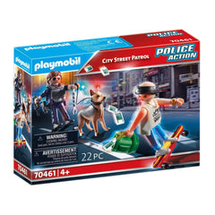 Playmobil - Playmobil Police Action City Street Patrol Building Set 70461
