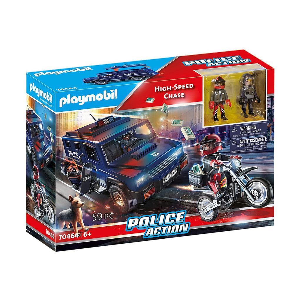 Playmobil Police Action High Speed Chase Building Set 70464