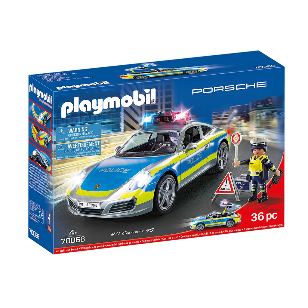 Playmobil Porsche 911 Carrera 4S Police Car Building Set 70066