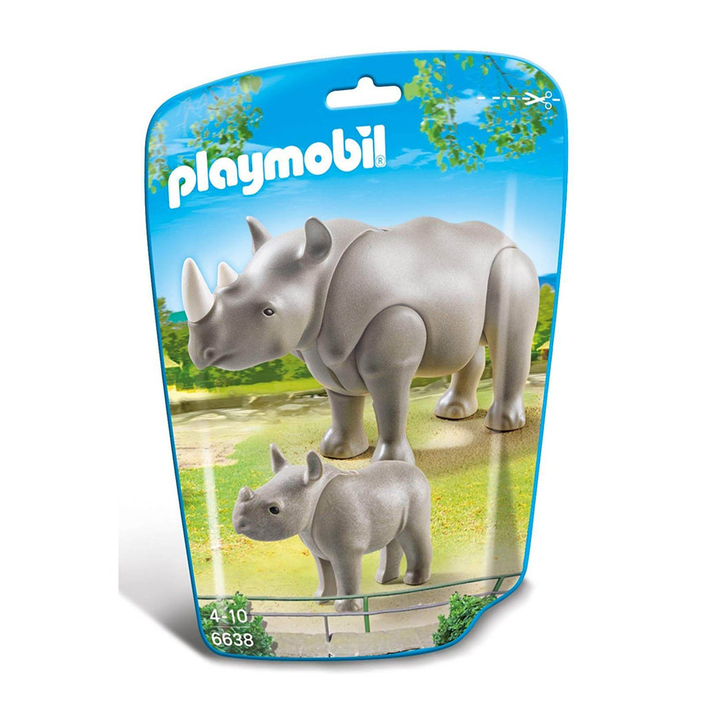 Playmobil Rhino With Baby Building Set 6638