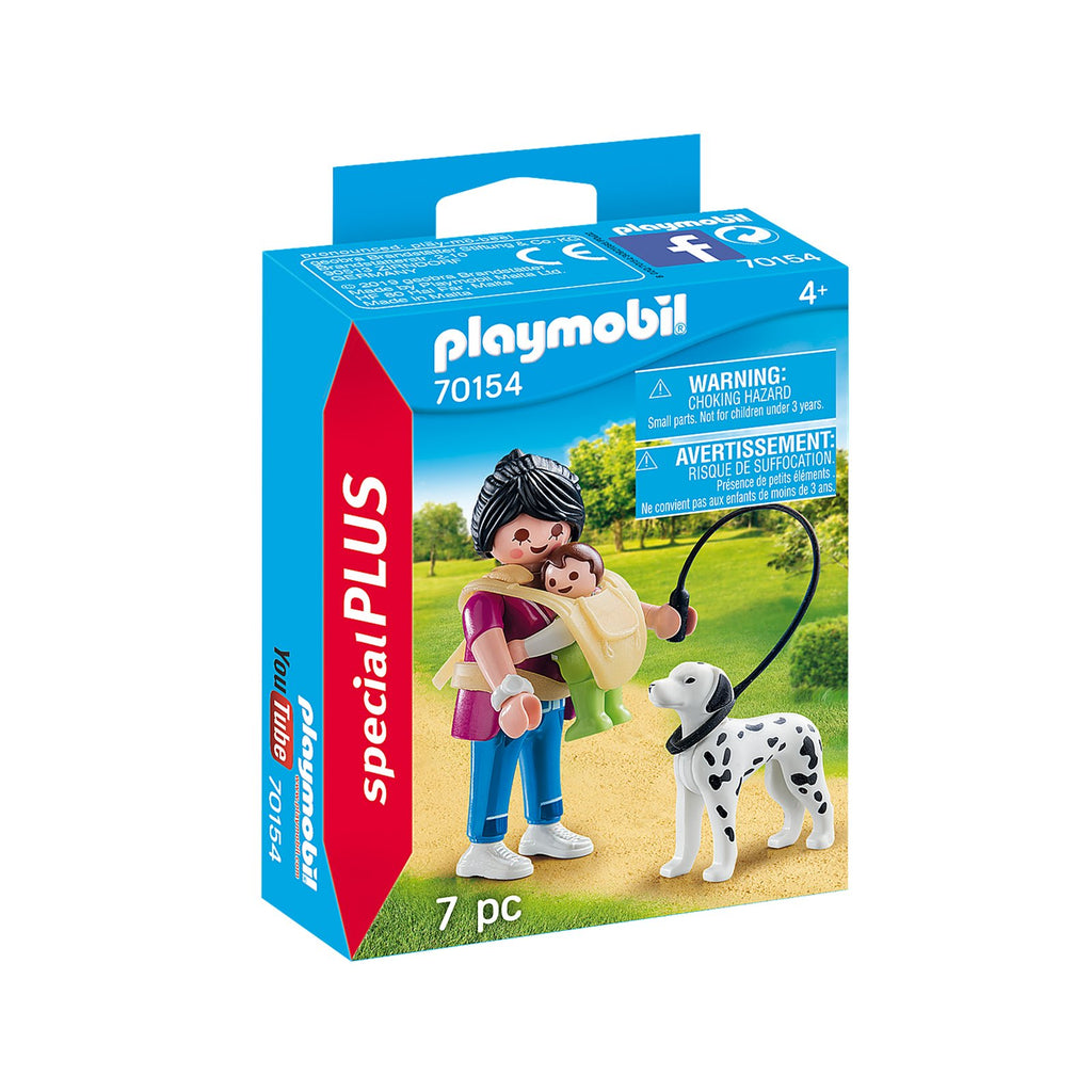 Playmobil Special Plus Mother With Baby & Dog Building Set 70154
