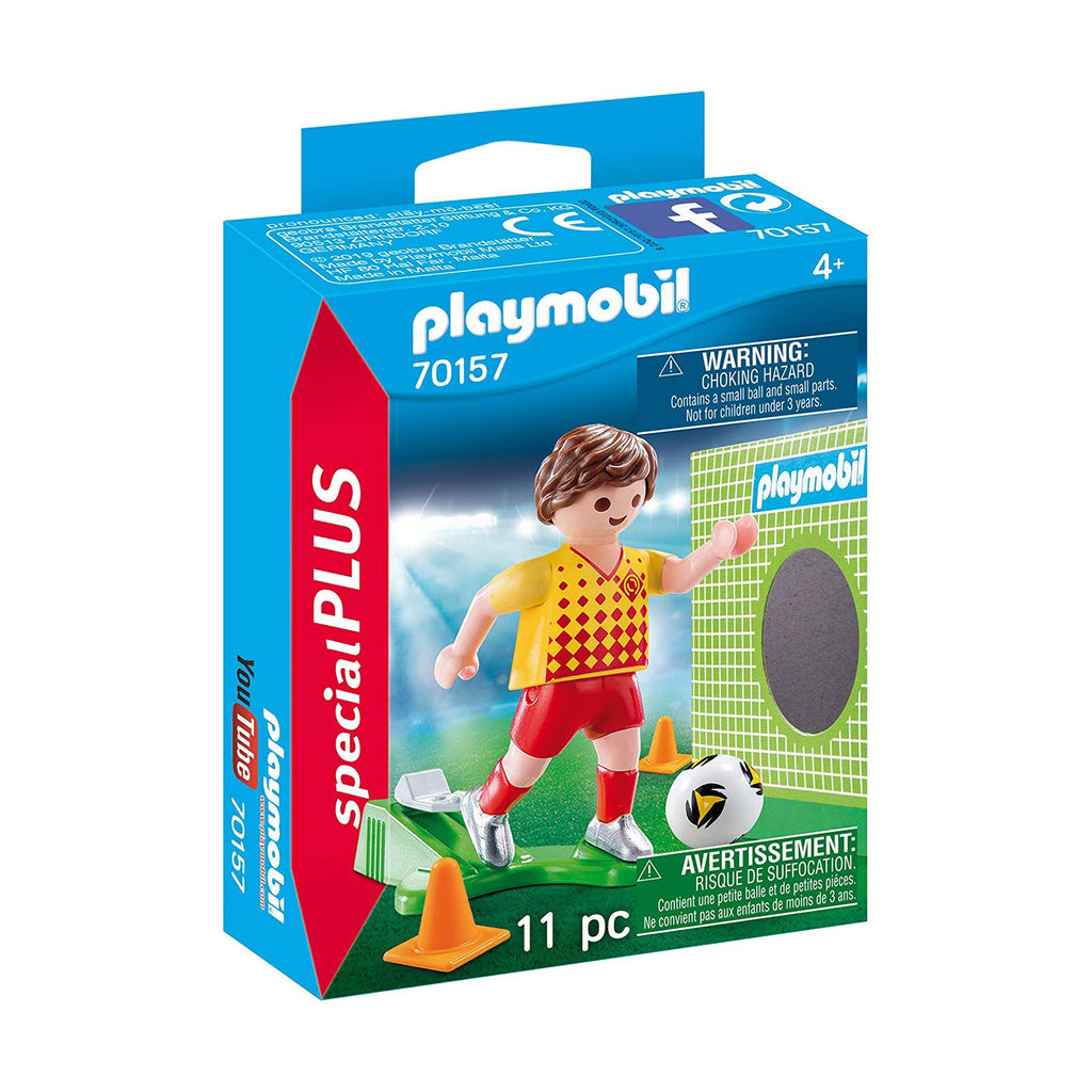 Playmobil Special Plus Soccer Player With Goal Building Set 70157
