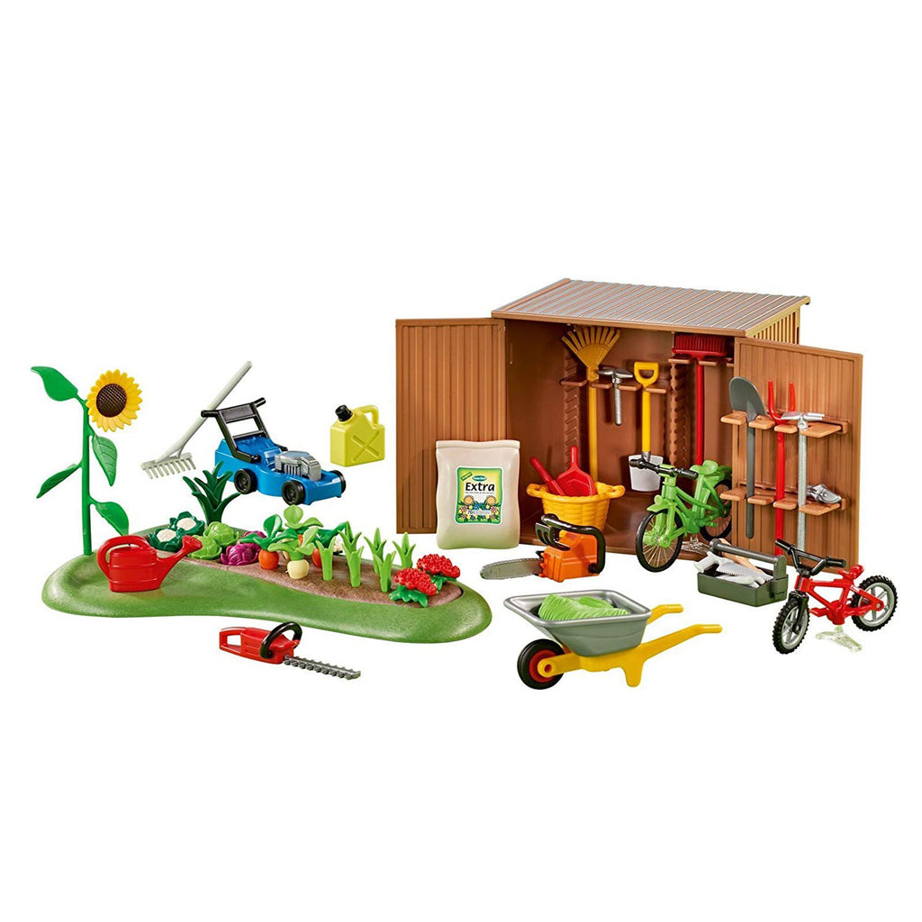 Playmobil Tool Shed With Garden Building Set 6558