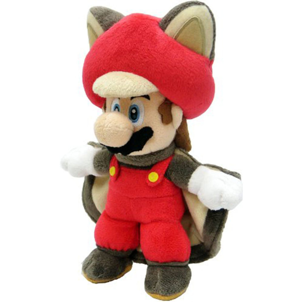 Plush - Little Buddy Super Mario Flying Squirrel Mario 9 Inch Plush