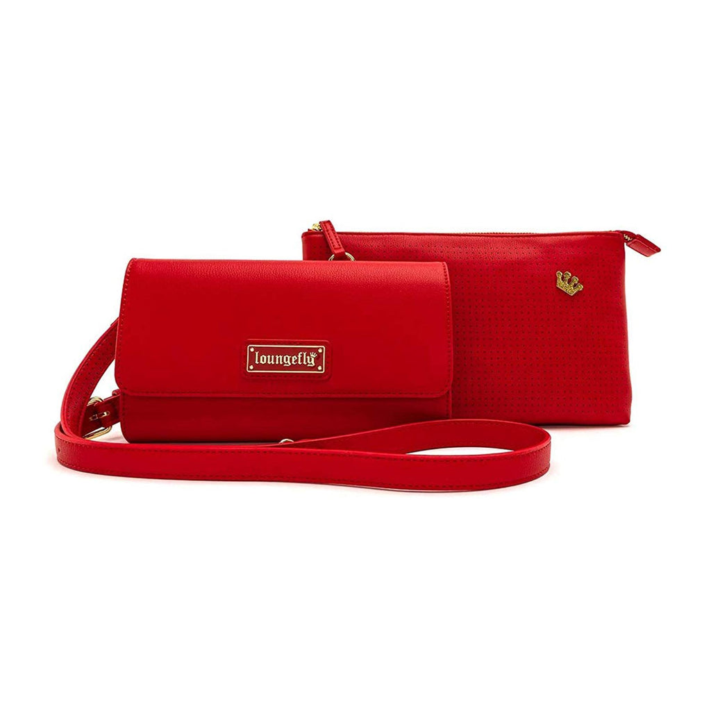 Loungefly Red Pin Trader Crossbody Bag Purse