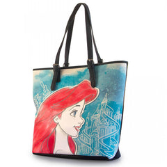 Disney Little Mermaid Ariel Printed Faux Leather Tote Bag - Radar Toys