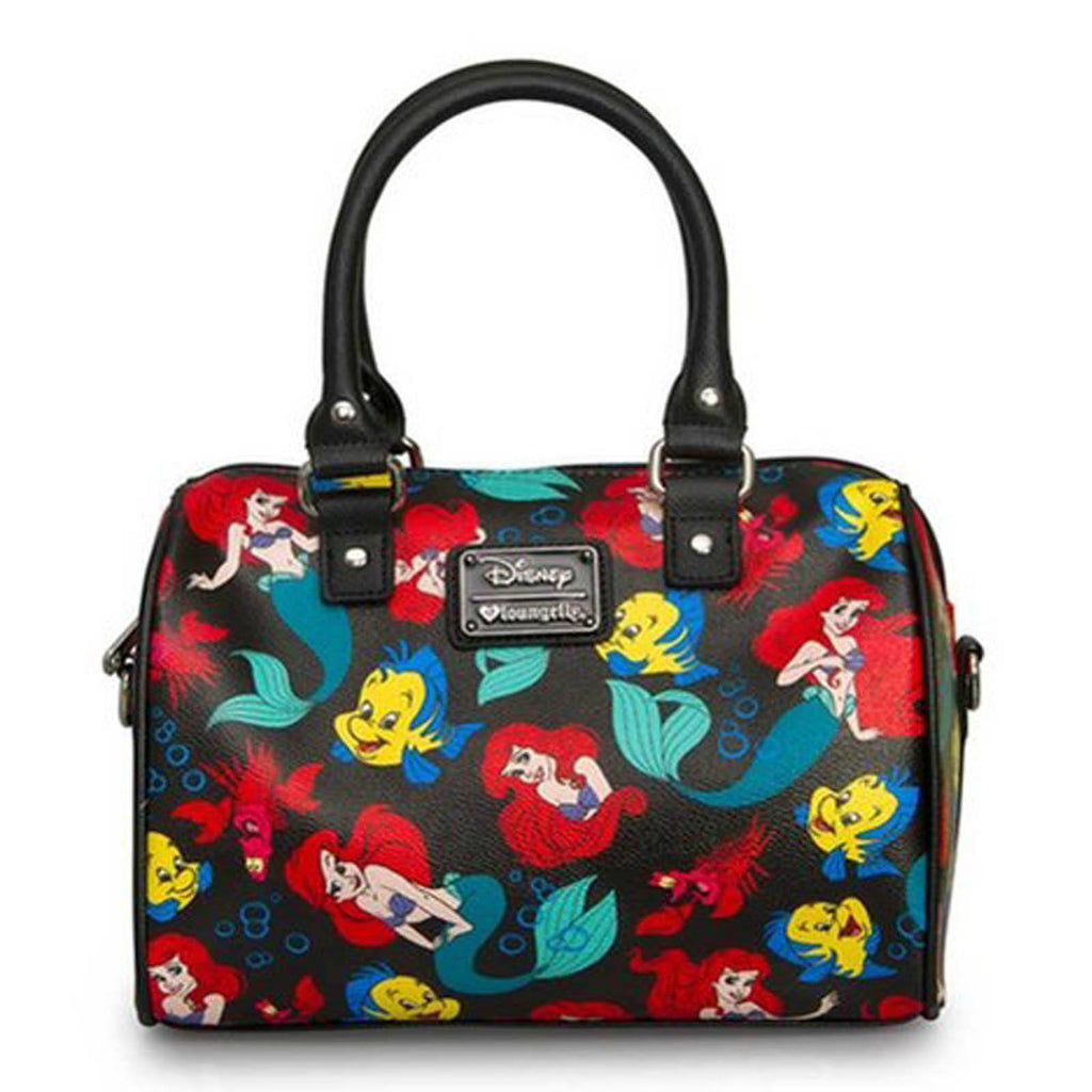 Disney Little Mermaid Classic Print Pebble Cross Body Duffle Purse