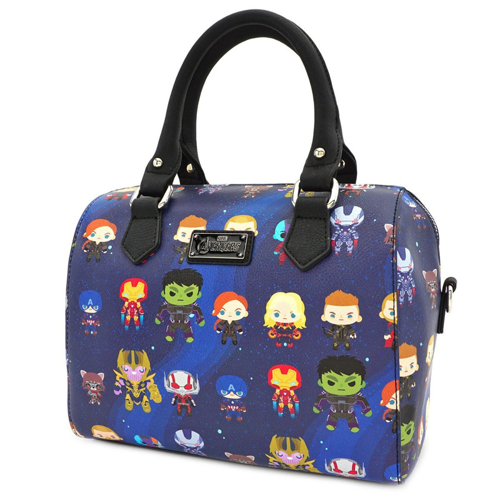 Loungefly Avengers Endgame Chibi All Over Print Purse Bag