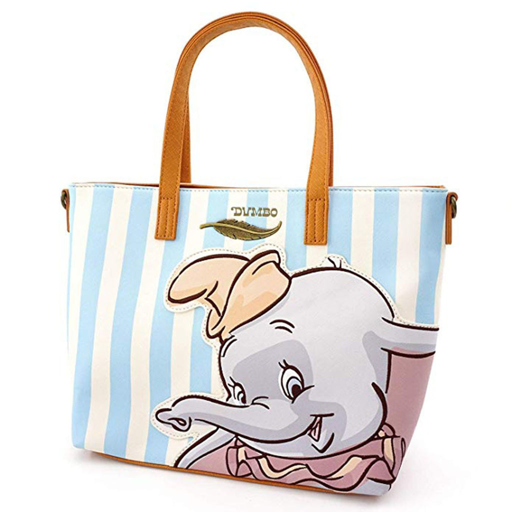 Loungefly Disney Dumbo Blue Stripe Tote Bag Purse