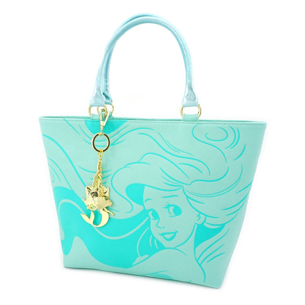 Loungefly Disney Little Mermaid Saffiano Tote Bag Purse