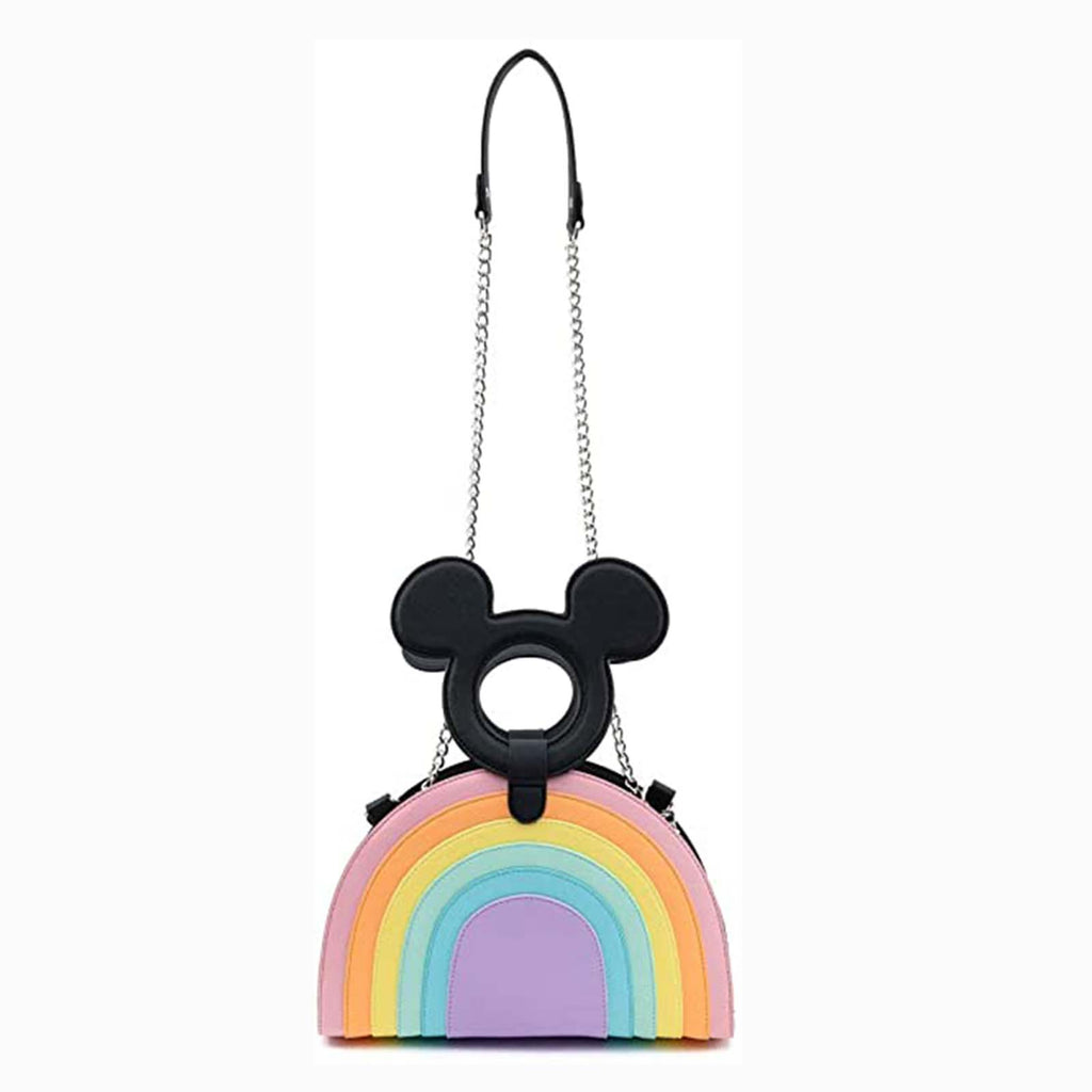 Loungefly Disney Mickey Mouse Pastel Rainbow Crossbody Bag Purse