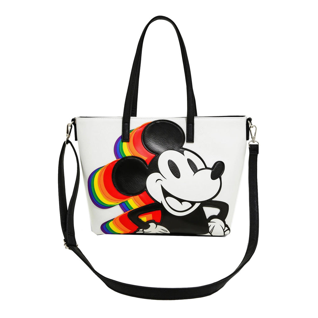 Loungefly Disney Mickey Mouse Rainbow Handbag Purse