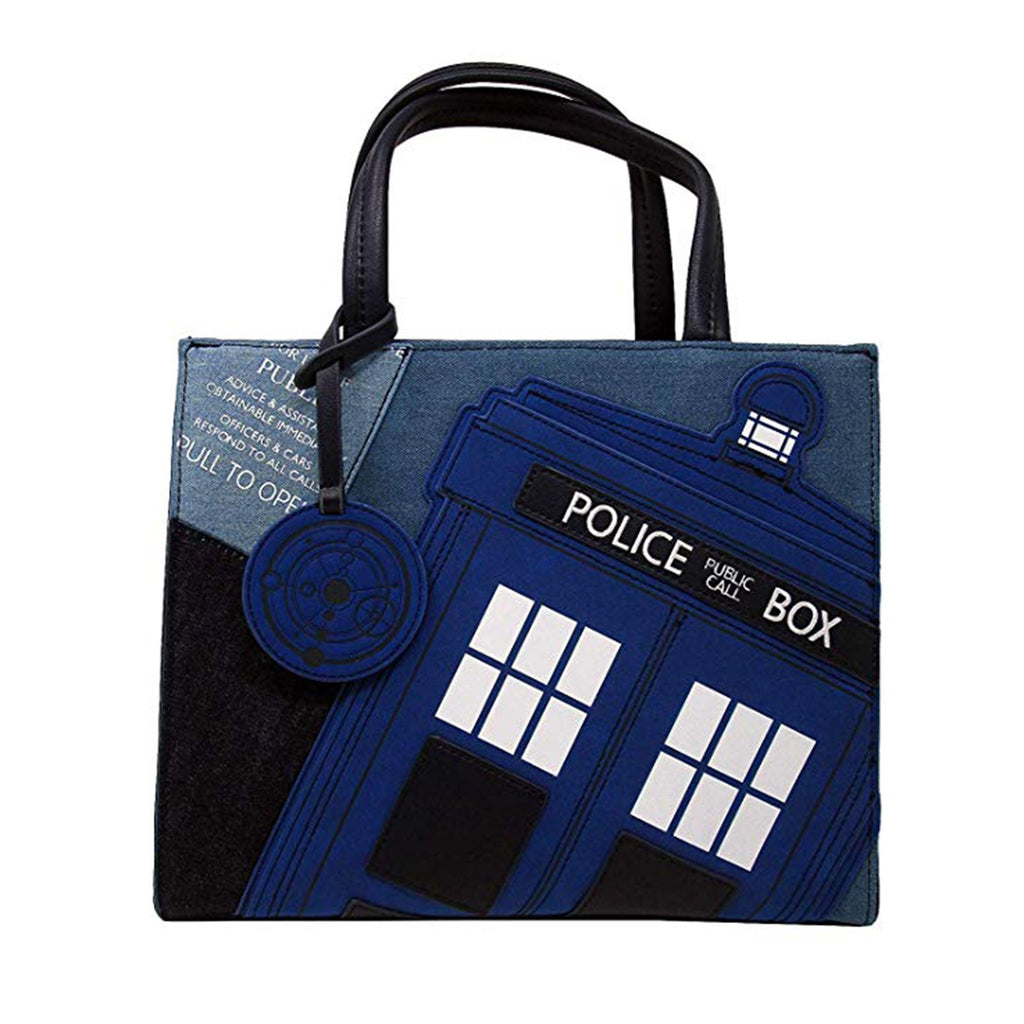 Loungefly Doctor Who Denim Purse Bag