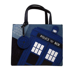 Purses - Loungefly Doctor Who Denim Purse Bag