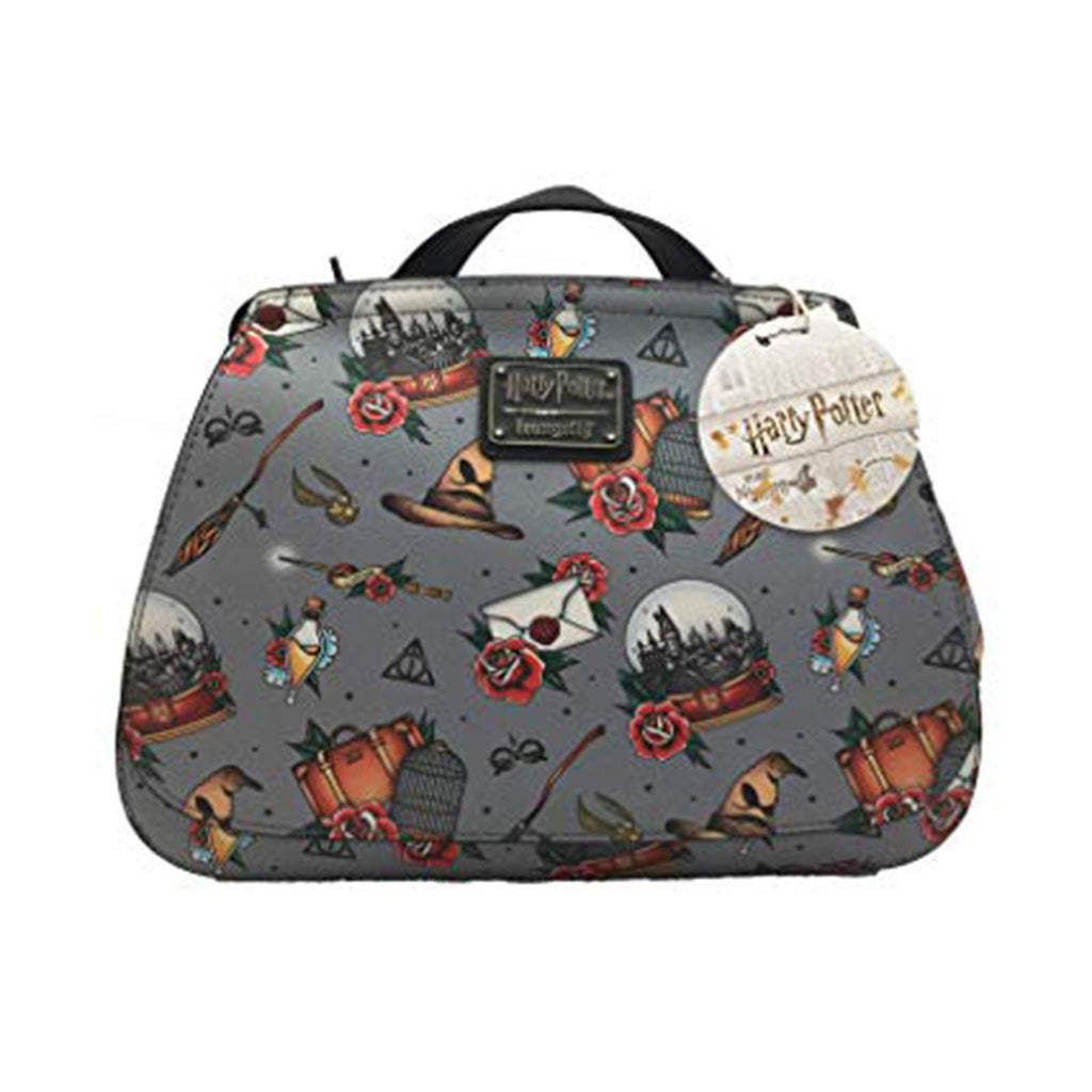 Loungefly Harry Potter Relics Tattoo All Over Print Crossbody Bag Purse