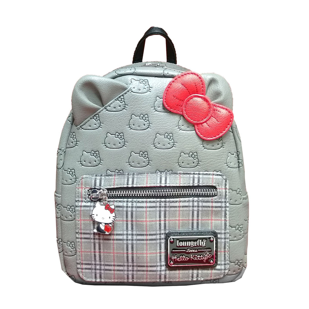 Loungefly Hello Kitty Classic Fashion Plaid Mini Backpack
