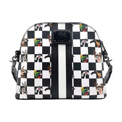 Purses - Loungefly Looney Tunes Black And White Checkered Character Crossbody Bag Purse